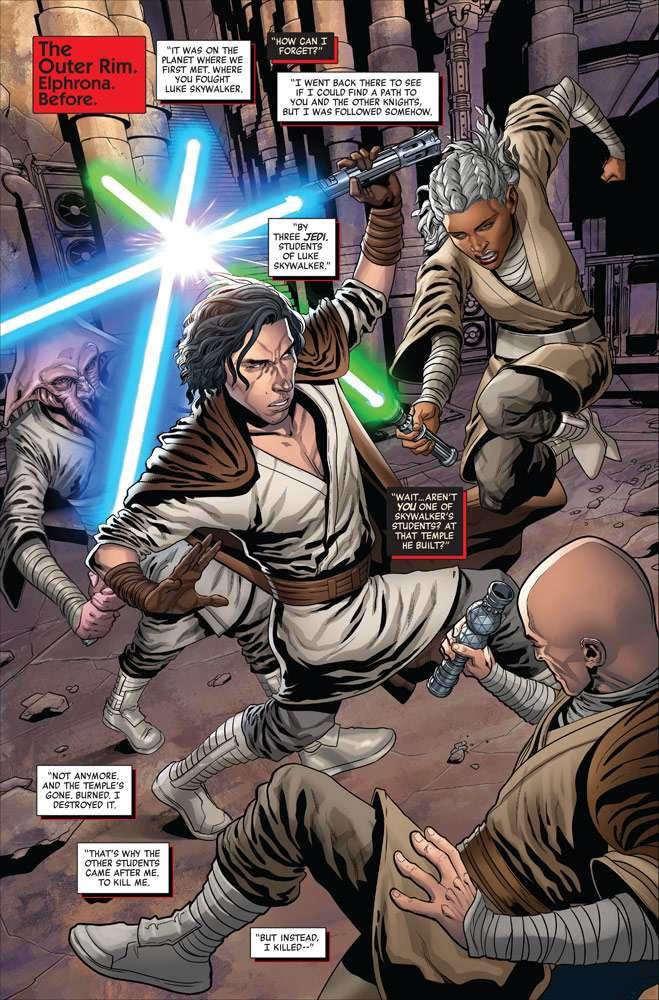 , Luke addestra il nuovo Ordine Jedi, nell'anteprima di THE RISE OF KYLO REN #3, Star Wars Addicted