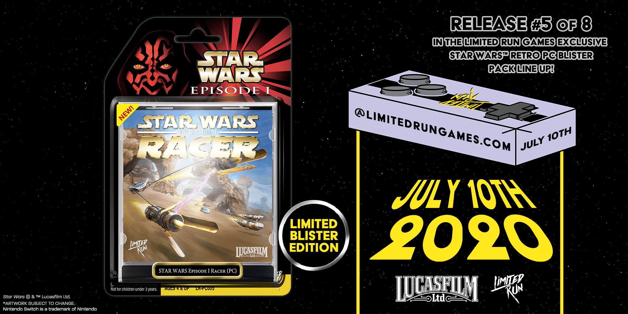 Star Wars Racer, Le edizioni limitate di Star Wars Episode I: Racer in pre-ordine dal 10 luglio, Star Wars Addicted