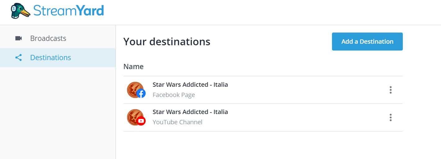 , Streamyard: il miglior software per le tue Live Facebook, Star Wars Addicted