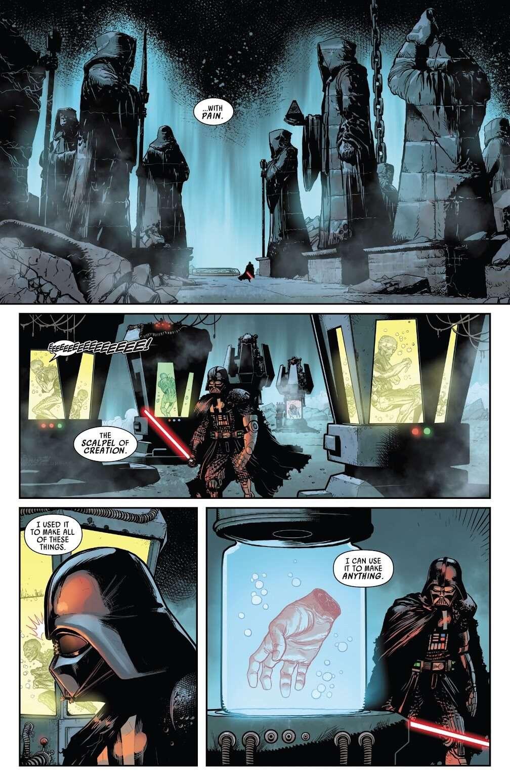 Darth Vader exegol, [SPOILER] Snoke, il Sith Eternal e la mano di Luke: rivelazioni di Darth Vader n. 11!, Star Wars Addicted