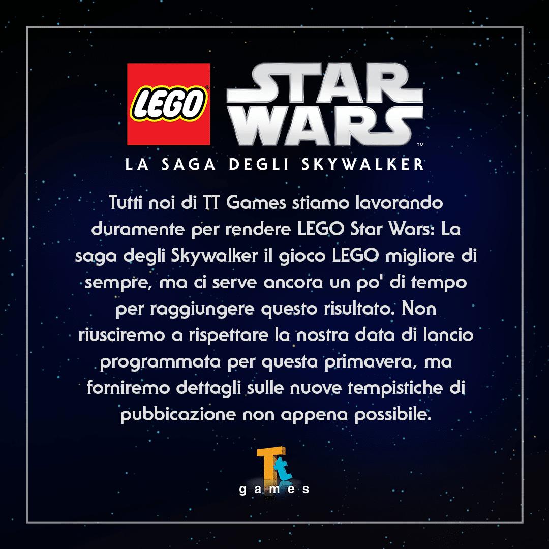 , LEGO Star Wars: la Saga degli Skywalker rimandato ancora una volta, Star Wars Addicted