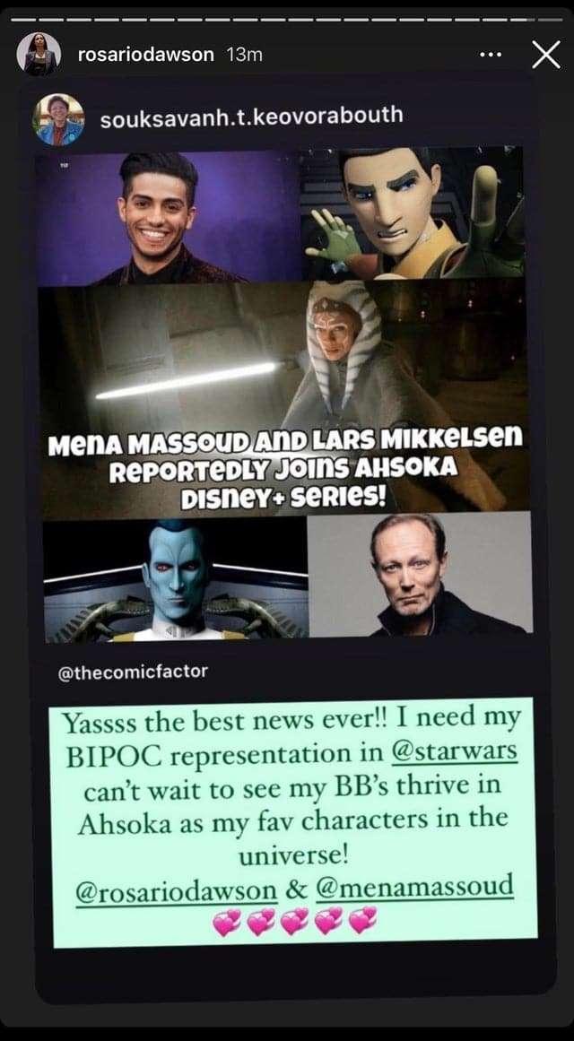 , Rosario Dawson sul casting di Ezra e Thrawn, Star Wars Addicted