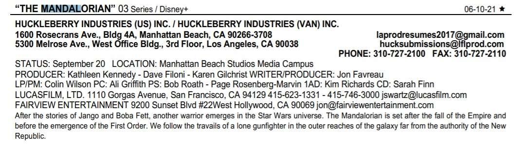 , [RUMOR] Ecco quando inizieranno le riprese della terza stagione di The Mandalorian, Star Wars Addicted