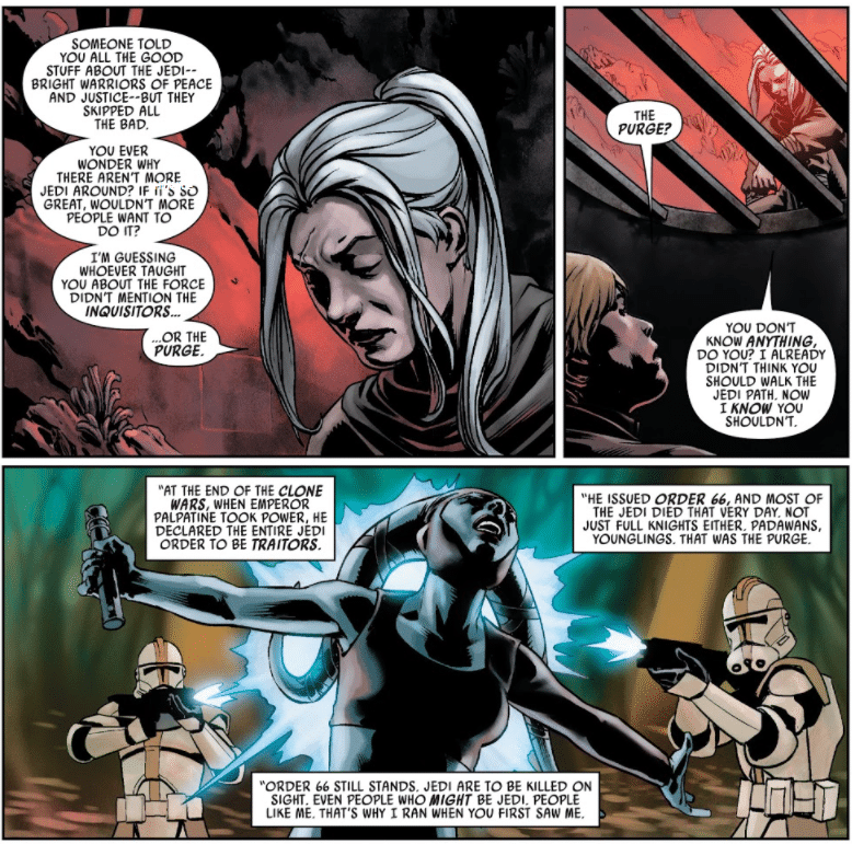 , Chi ha rivelato a Luke Skywalker chi sono gli Inquisitori e cosa è la Purga Jedi?, Star Wars Addicted