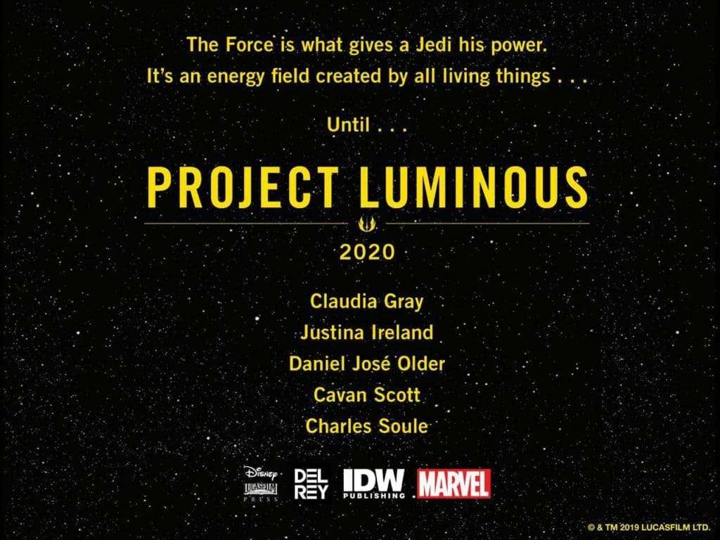 Luminosi project luminous, Chi sono i Luminosi? – Guida al Canon, Star Wars Addicted